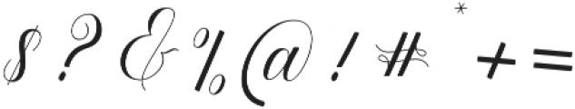 Ramozatc Script Regular otf (400) Font OTHER CHARS