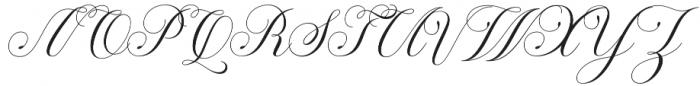 Ramozatc Script Regular otf (400) Font UPPERCASE