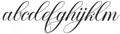Ramozatc Script Regular otf (400) Font LOWERCASE