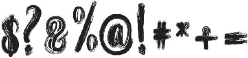 Randoem Brush ttf (400) Font OTHER CHARS