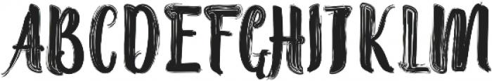 Randoem Brush ttf (400) Font UPPERCASE