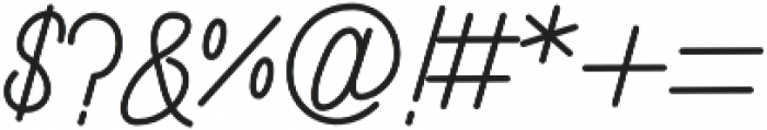 Randusary Monoline otf (400) Font OTHER CHARS