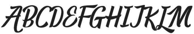 Randusary Script otf (400) Font UPPERCASE
