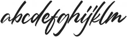 Rantheme Regular otf (400) Font LOWERCASE