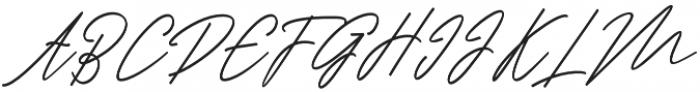 Ranuella Slant Italic otf (400) Font UPPERCASE