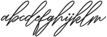 Ranuella Slant Italic otf (400) Font LOWERCASE