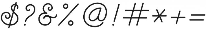 Raquella Monoscript otf (400) Font OTHER CHARS