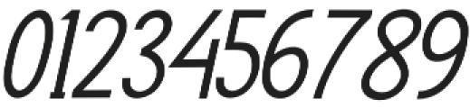 Rasendrya Sans Italic otf (400) Font OTHER CHARS
