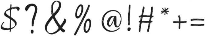 Raspberry Brush otf (400) Font OTHER CHARS