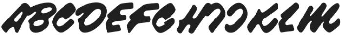 Raspberry Script otf (400) Font UPPERCASE