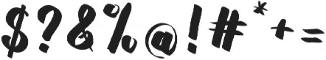 Rasterize Script Bold otf (700) Font OTHER CHARS