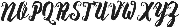 Rasterize Script Bold otf (700) Font UPPERCASE