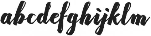 Rasterize Script Bold otf (700) Font LOWERCASE