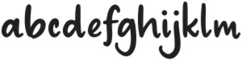 Ratiga Regular otf (400) Font LOWERCASE
