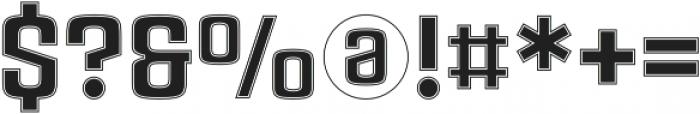 Rauda Slab Inline Regular otf (400) Font OTHER CHARS