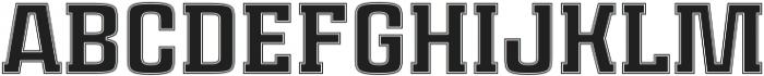 Rauda Slab Inline Unicase Regular otf (400) Font UPPERCASE