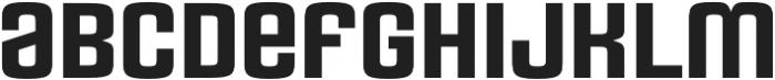 Rauda Solid Unicase Regular otf (400) Font LOWERCASE