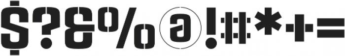 Rauda Stencil Regular otf (400) Font OTHER CHARS