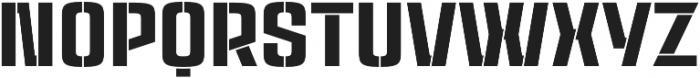 Rauda Stencil Unicase Regular otf (400) Font UPPERCASE