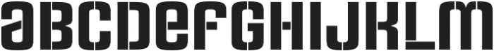 Rauda Stencil Unicase Regular otf (400) Font LOWERCASE
