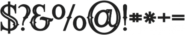 Raven Bold Inline otf (700) Font OTHER CHARS
