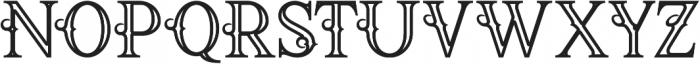 Raven Bold Inline otf (700) Font UPPERCASE