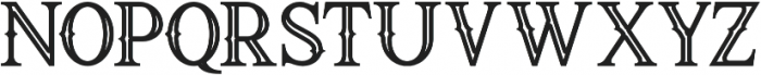 Raven Bold Inline otf (700) Font LOWERCASE
