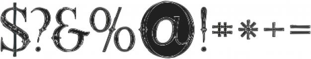 Raven Inline Grunge otf (400) Font OTHER CHARS