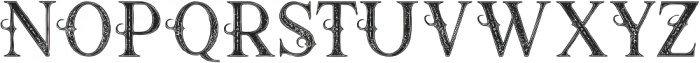 Raven Inline Grunge otf (400) Font UPPERCASE