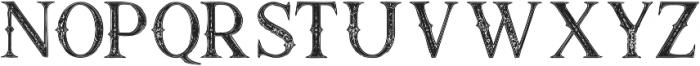 Raven Inline Grunge otf (400) Font LOWERCASE