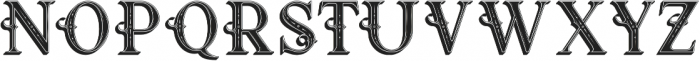 Raven Inline Shadow otf (400) Font UPPERCASE