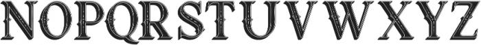 Raven Inline Shadow otf (400) Font LOWERCASE