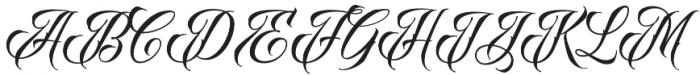 Raven Script Regular otf (400) Font UPPERCASE