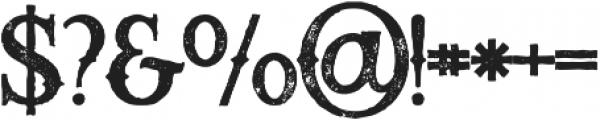 Raven bold grunge otf (700) Font OTHER CHARS