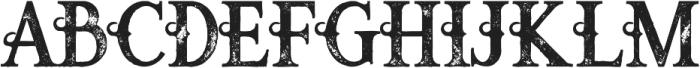 Raven bold grunge otf (700) Font UPPERCASE