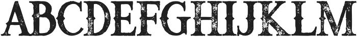Raven bold grunge otf (700) Font LOWERCASE