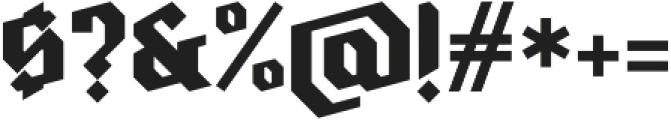 Ravenholm otf (700) Font OTHER CHARS