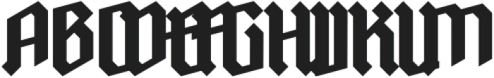 Ravenholm otf (700) Font UPPERCASE