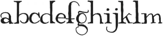 Ravenly otf (400) Font LOWERCASE