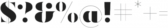 Ravensara Antiqua Stencil Black otf (900) Font OTHER CHARS