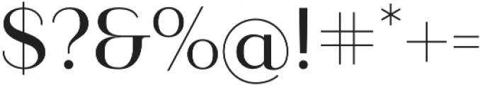 Ravensara Sans otf (500) Font OTHER CHARS