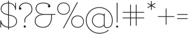 Ravensara otf (100) Font OTHER CHARS