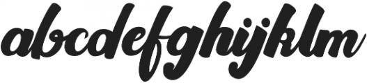 Rawhill otf (400) Font LOWERCASE