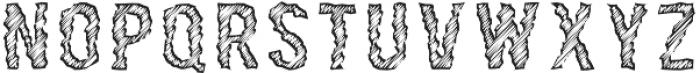 Rawing Scratch otf (400) Font LOWERCASE