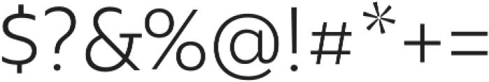 Rawson Light otf (300) Font OTHER CHARS