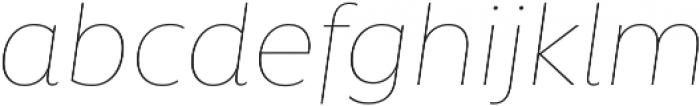 Rawson Pro Thin It otf (100) Font LOWERCASE