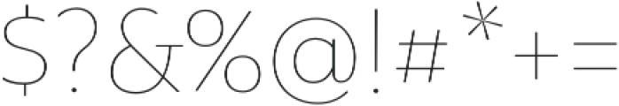 Rawson Pro Thin otf (100) Font OTHER CHARS