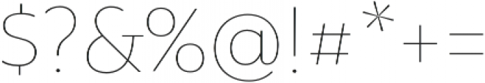Rawson Thin otf (100) Font OTHER CHARS