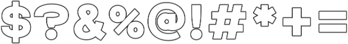 Raxtor Bold Outline otf (700) Font OTHER CHARS