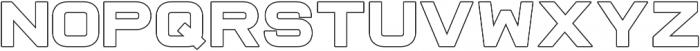Raxtor Bold Outline otf (700) Font UPPERCASE